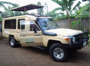 Gladiola Adventure Extended Toyota Land-cruiser with Pop-up roof for rent and self-drive in Tanzania