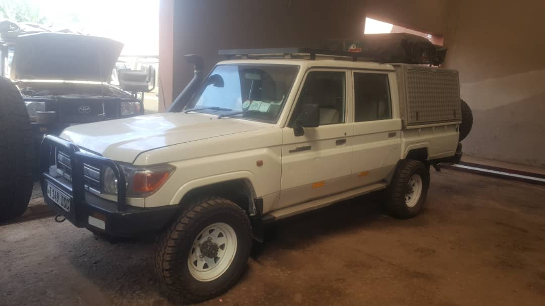 Gladiola Adventure Toyota Land-cruiser double cap for rent and self-drives in Tanzania